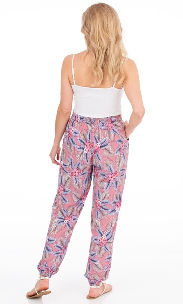 Botanical Printed Trousers Dusky Pink - Gallery Image 3