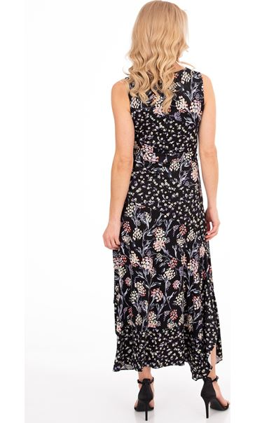 Sleeveless Floral Patchwork Printed Maxi Dress Black/Multi - Gallery Image 3