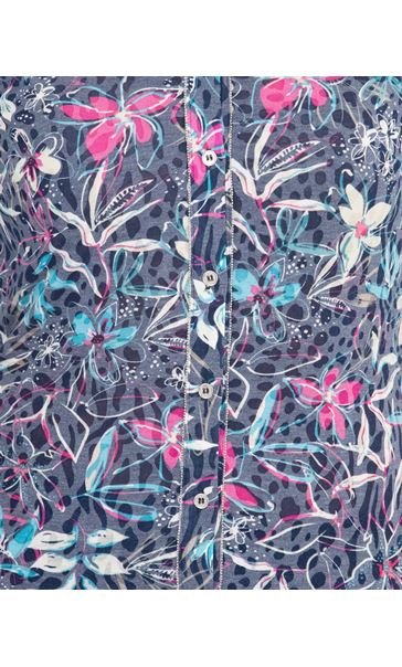Anna Rose Floral Print Blouse Navy/Multi - Gallery Image 3