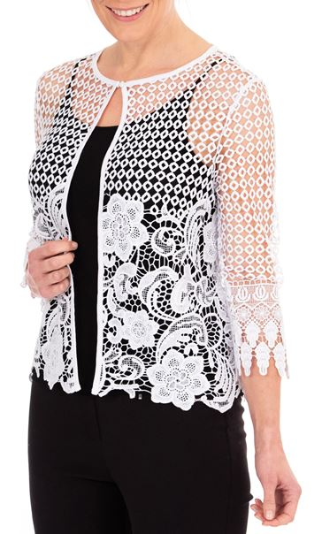 Anna Rose Crochet Cover Up White