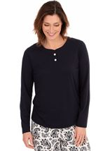 Long Sleeve Loungewear Top
