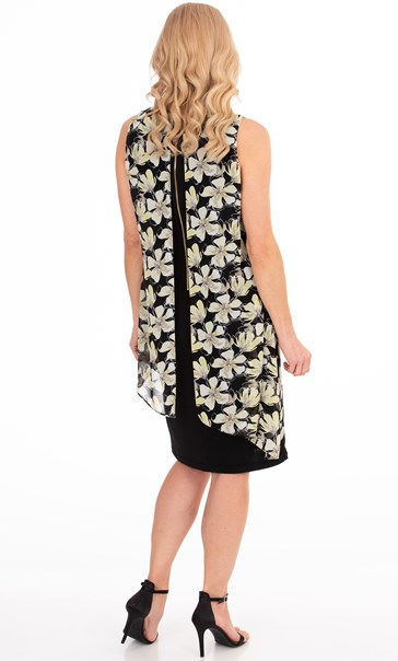 Floral Chiffon Layer Dress