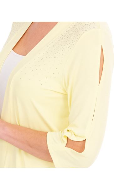 Anna Rose Embellished Jersey Cover Soft Lemon - Gallery Image 3