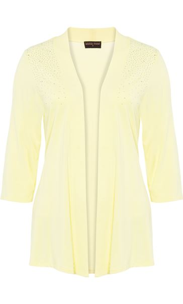 Anna Rose Embellished Jersey Cover Soft Lemon - Gallery Image 4