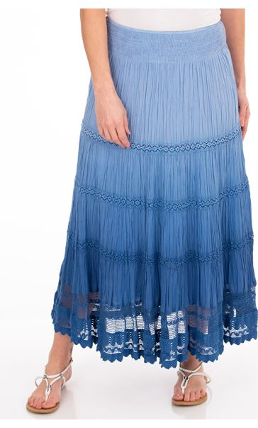 Anna Rose Ombre Maxi Skirt Blue - Gallery Image 1