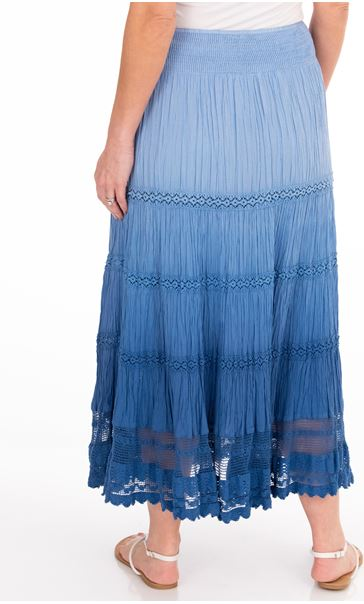 Anna Rose Ombre Maxi Skirt Blue - Gallery Image 2