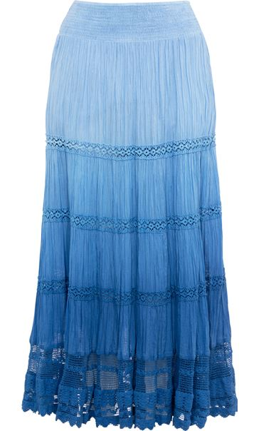 Anna Rose Ombre Maxi Skirt Blue - Gallery Image 3