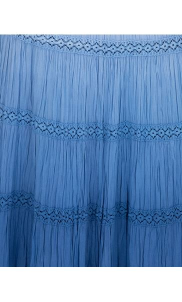 Anna Rose Ombre Maxi Skirt Blue - Gallery Image 4