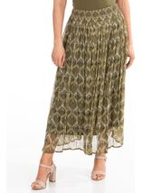 Printed Chiffon Pull On Maxi Skirt