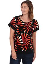 Short Sleeve Printed Jersey Top