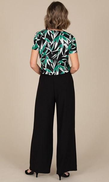 Anna Rose Wide Leg Trousers Black - Gallery Image 3