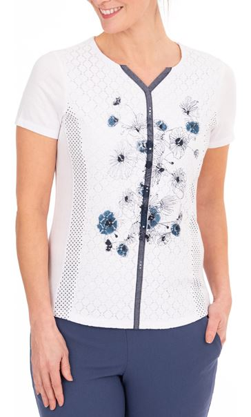 Anna Rose Panelled Print Top