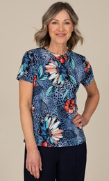 Anna Rose Abstract Print Top