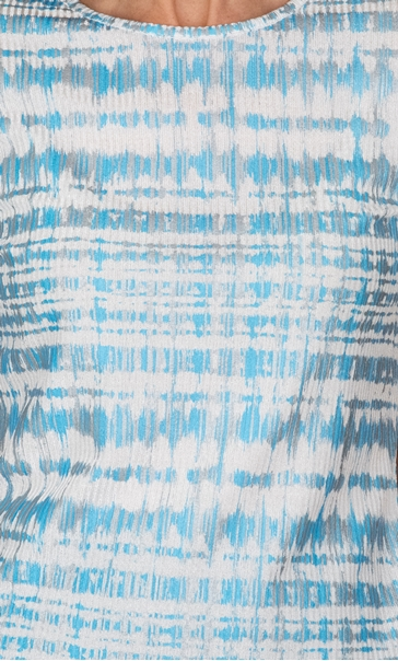 Anna Rose Textured Short Sleeve Top Blue - Gallery Image 3