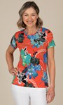 Anna Rose Multi Print Top Orange Multi - Gallery Image 1