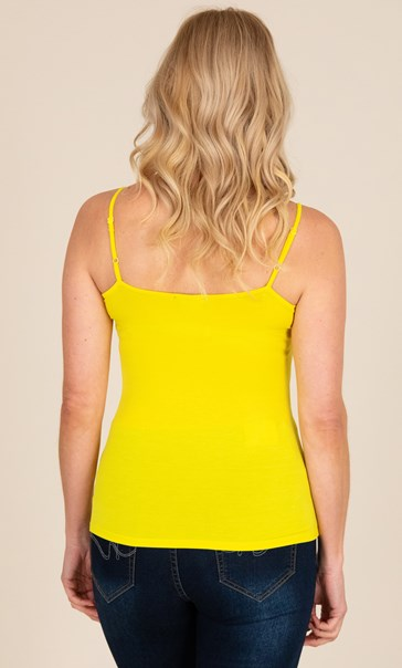 Adjustable Strappy Jersey Cami Top Sunflower - Gallery Image 2