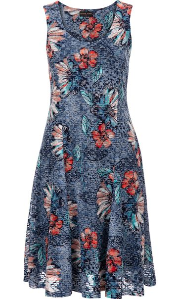 Anna Rose Textured Sleeveless Dress