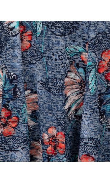 Anna Rose Textured Sleeveless Dress Blue/Orange/Multi - Gallery Image 3