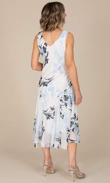 Anna Rose Printed Bias Cut Midi Dress