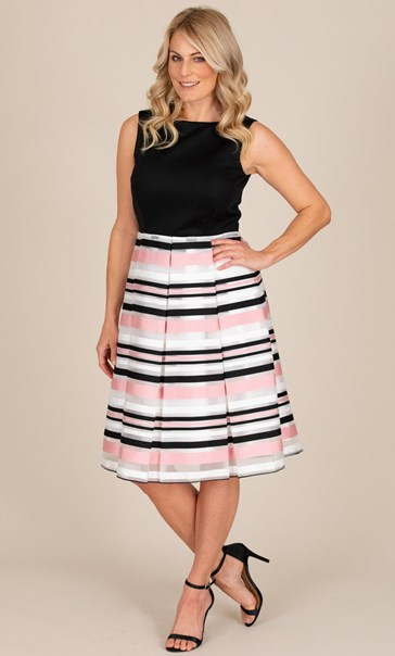 Ribbon Stripe Sleeveless Dress
