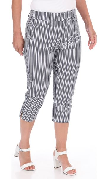 Cropped Striped Trousers