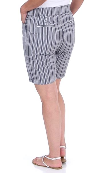 Striped Shorts Blue/White - Gallery Image 2