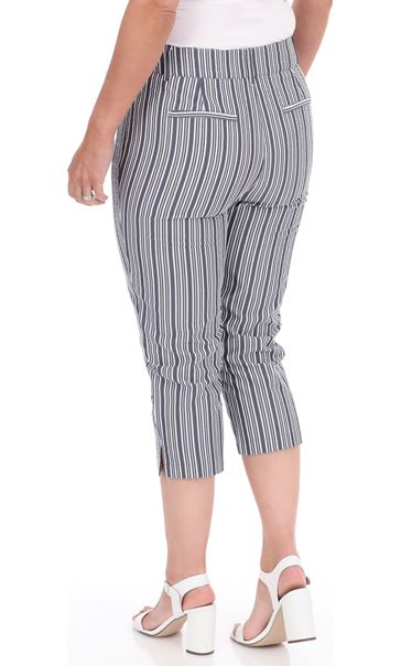 Cropped Striped Trousers Blue/White - Gallery Image 2