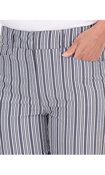 Cropped Striped Trousers Blue/White - Gallery Image 3