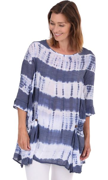 Tie Dye Tunic Royal Blue - Gallery Image 2