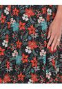Floral Printed Panelled Short Sleeve Jersey Dress Black/Tomato - Gallery Image 3