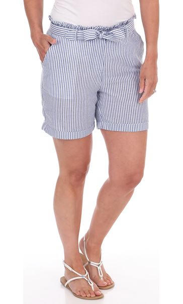 Striped Seersucker Shorts