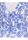 Layered Tie Front Top With Floral Print White/Sapphire - Gallery Image 3