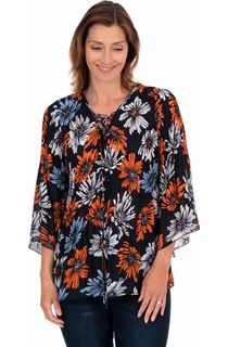 Georgette Printed Pleat Top