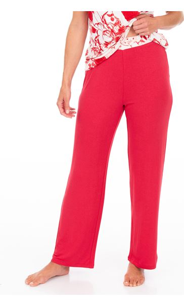 Full Length Pyjama Bottoms White/Red