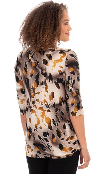 Printed Stretch Round Neck Tunic