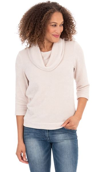 Cowl Neck Knit top Ivory