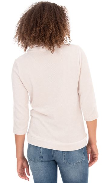 Cowl Neck Knit top Ivory - Gallery Image 2