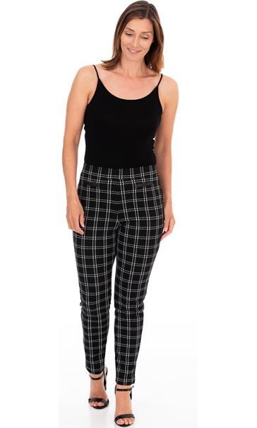 Pull On Check Trousers