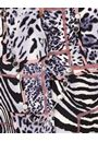 Anna Rose Print Blouse With Necklace Black/Pink - Gallery Image 3