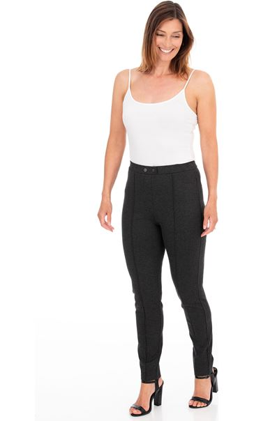 Pull On Ponte Trousers Grey