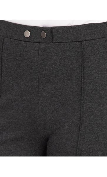 Pull On Ponte Trousers Grey - Gallery Image 3