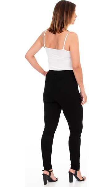 Full Length Ponte Leggings Black - Gallery Image 2