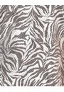 Printed Shimmer Short Sleeve Top Silver - Gallery Image 3