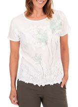 Anna Rose Placement Print Top
