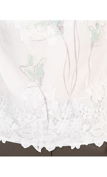 Anna Rose Placement Print Top Ivory Multi - Gallery Image 3