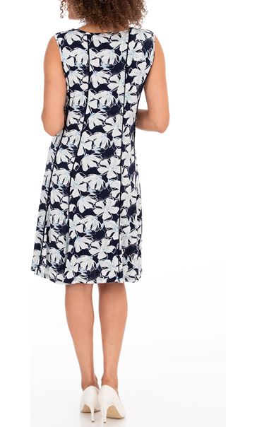 Anna Rose Floral Print Jersey Dress Midnight/Blue - Gallery Image 2
