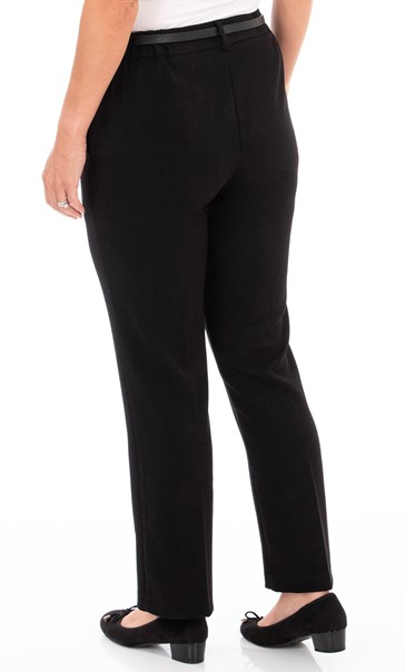 Anna Rose Straight Leg Trousers 29 inch - Black