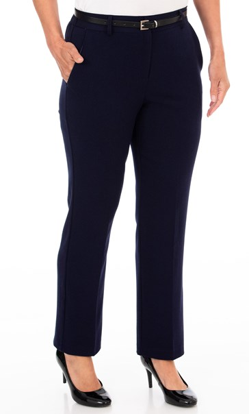 Anna Rose Straight Leg Trousers 29 inch - Midnight