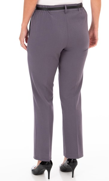 Anna Rose Straight Leg Trousers 29 inch Mid Grey - Gallery Image 3