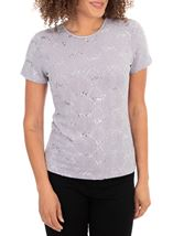 Anna Rose Short Sleeve Textured Top